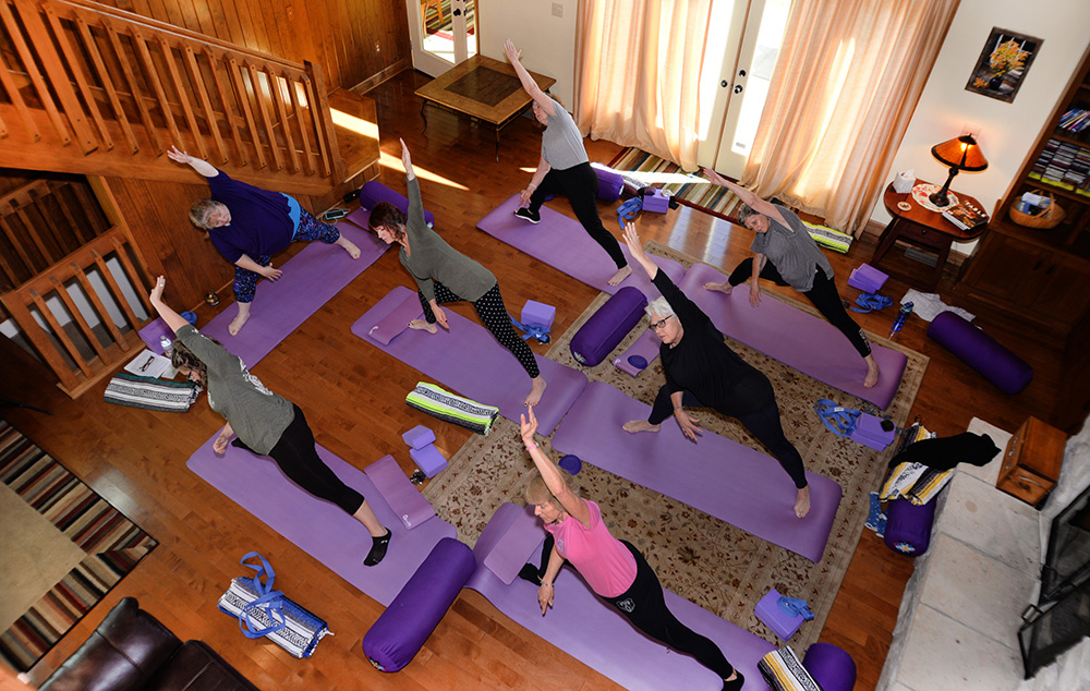 yoga at Winter Fireplace Getaway Experience