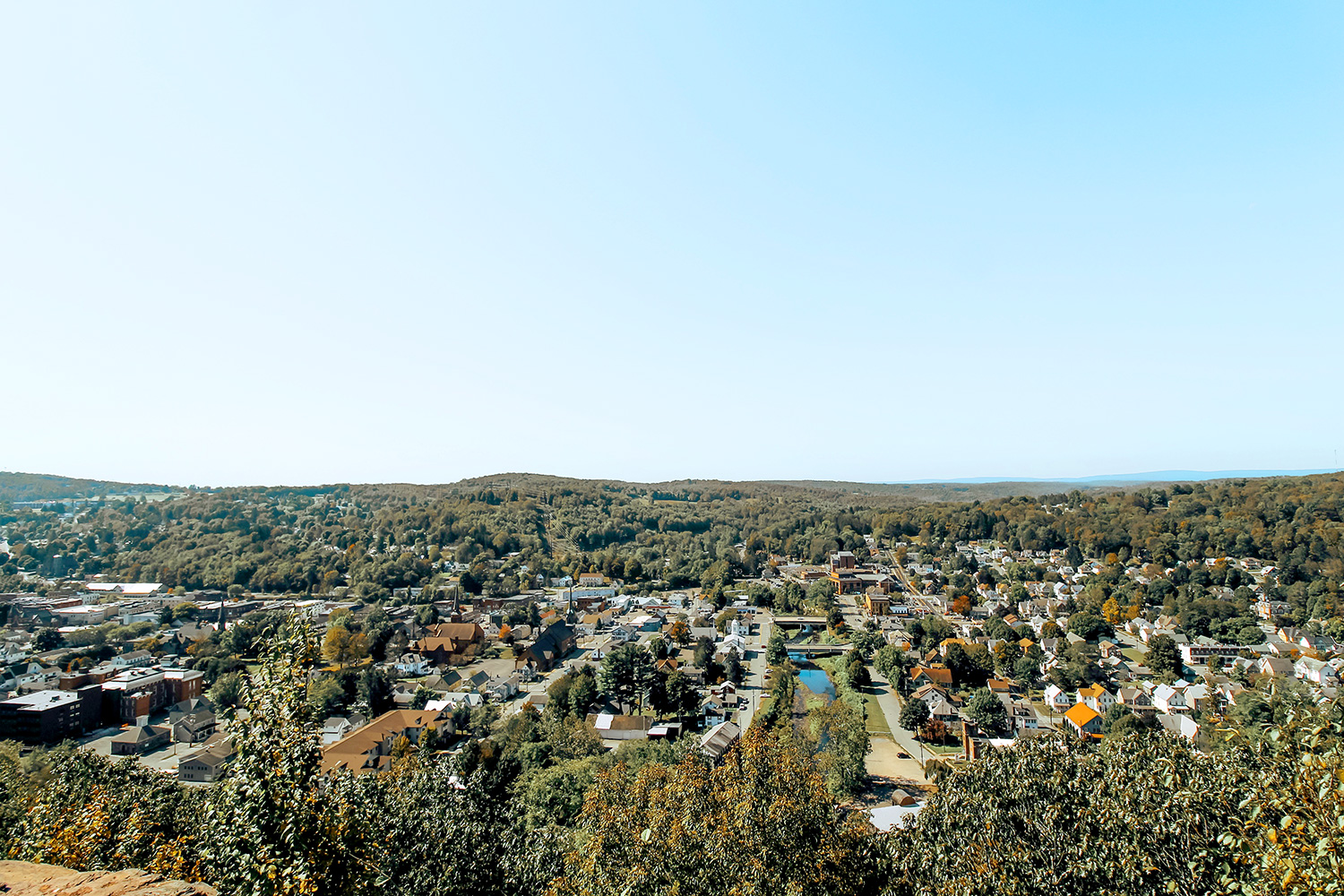 Irving-Cliff-View of Honesdale