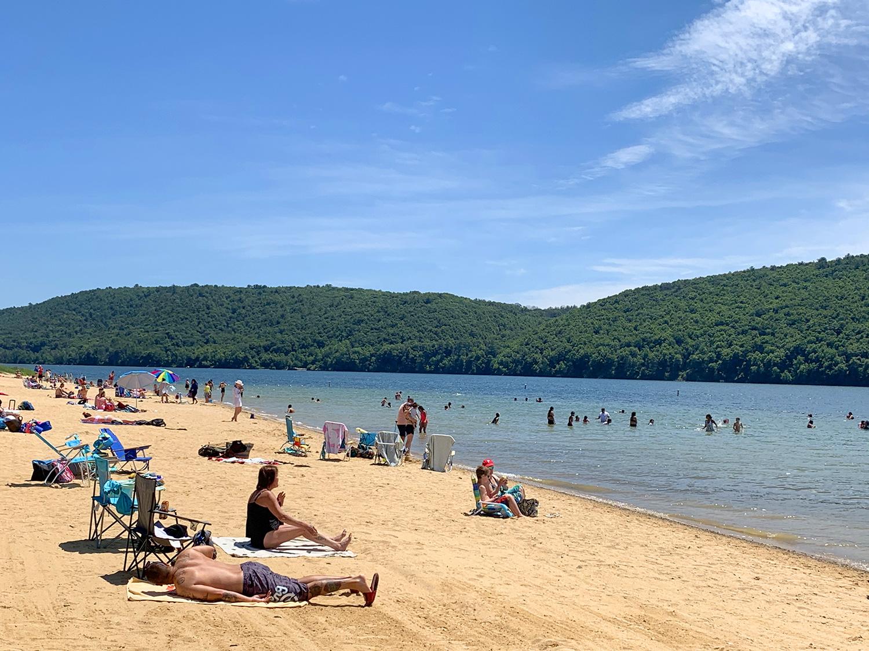 Beltzville state Park Beach, PA
