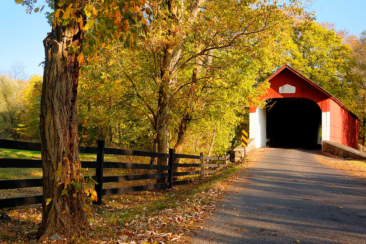 Knecht's Covered Bridge, Bucks Co., PA