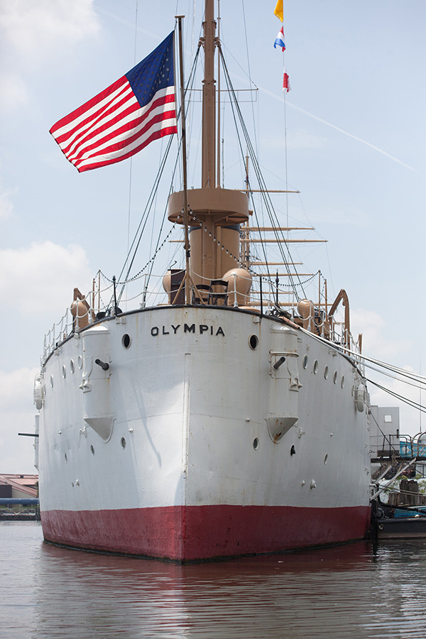 Cruiser Olympia at Independence Seaport Museum, Phila.